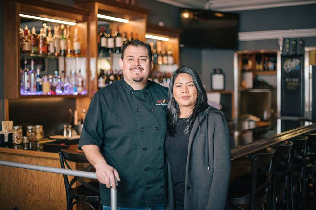 Adrian and Soco, the owners of the Red Cork Bistro